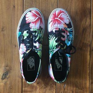 Hawaiian Authentic Floral Black Vans